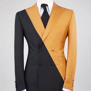 Other - Men's Black Yellow 2 Piece Suit